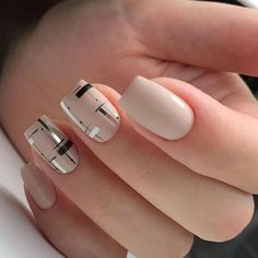 Elegant Nails, Stylish Nails, Trendy Nails, Short Nail Designs, Simple Nail Designs, Nail Art Designs, Nails Design, Nagellack Design, Minimalist Nails