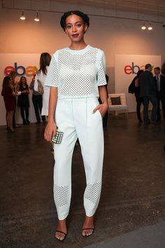 solange wearing all-white leather philip lim outfit