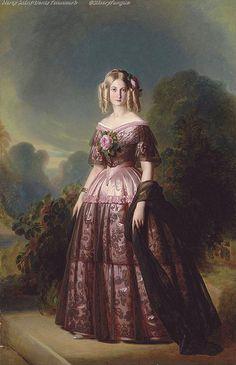 Princess Maria Carolina Augusta of Bourbon, Studio of Franz-Xaver Winterhalter 1846.