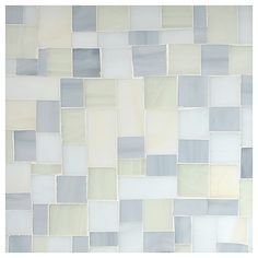 Complete Tile Collection Stained Glass Mosaic - Tranquil Shores Blend - Gloss, Petite Block Glass Mosaic, MI#: 046-G2-266-102, Color: Tranquil Shores Blend