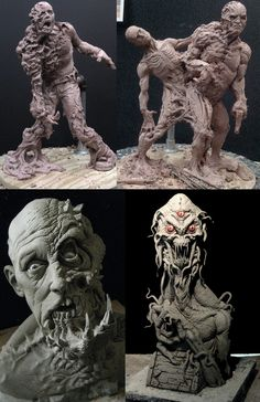 The Blob and The Thing by DonLanning on DeviantArt Rabbit Sculpture, Sculpture Art, Dada Art, Traditional Sculptures, Scary Art, Creepy, Cool Monsters, Science Fiction Art, Creature Concept