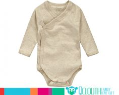 Organic Cotton Infant Baby Onesies Rompers Double Long Sleeve Yellow