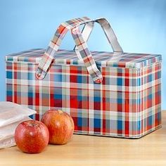 this is a great picnic tin - I have one in green plaid!