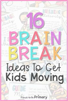 Try these fun brain break ideas to help active kids stay focused and learn at their best. Fun activities such as yoga, Go Noodle, and printable cards with ways for kids to move independently, in homeschool settings, during classroom breaks, and virtual lessons during distance learning. Brain break activities are great for incorporating movement into your day in and out of the elementary classroom (kindergarten, first, second, and third grade). #classroommanagement #teachingtips #brainbreaks Time Management Activities, Learning Activities, Activities For Kids, Physical Activities, Teaching Ideas, Preschool Behavior, Student Behavior, Classroom Organization, Classroom Management
