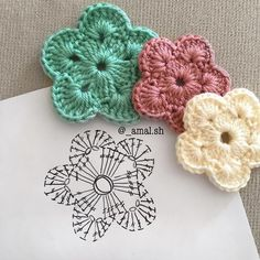 30 Free Crochet Flower Patterns Knitting Lovers is part of Crochet flowers free pattern - Free Crochet Flower Patterns consists of a process of creating fabric by interlocking the loops of materials such as yarn or thread used by artists Crochet Simple, Crochet Diy, Love Crochet, Irish Crochet, Beautiful Crochet, Fast Crochet, Russian Crochet, Japanese Crochet, Crochet Diagram
