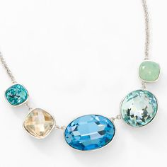 I'm loving the colors in the new Touchstone Crystal by Swarovski Collection!! Stunning!! This could be yours. You can order from my personal website along with many other pieces!!  Sea Glass Necklace Item #3744NF - $149  Nadia Madjidi's Personal Website www.touchstonecrystal.com/nadia