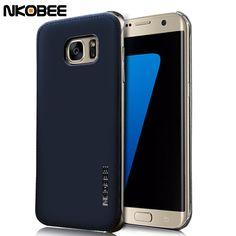 Nkobee 대한 samsung galaxy s7 edge case 가죽 + 투명 하드 다시 커버 samsung galaxy s7 & s7 edge case 원래 고급