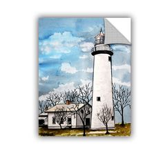 ArtWall ArtAppealz Derek Mccrea 'Pointe Aux Barques' Removable Wall Art