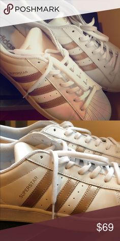 1378cec076fcd0 Adidas superstars rose gold It s size 11 and not used adidas Shoes Sneakers