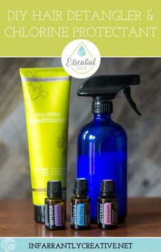 DIY Hair Detangler and Chlorine Protectant DIY Hair Detangler Spray & Chlorine Protectant is a perfect DIY hair conditioner to keep your hair looking healthy during the summer. Chlorine Hair, Diy Hair Detangler, Swimming Hairstyles, Hair Essentials, Essential Oils For Hair, Health And Beauty Tips, Healthy Beauty, Healthy Hair, Health Tips