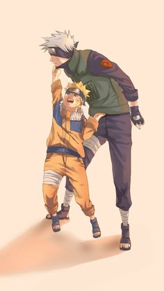 Naruto and Kakashi-sensei