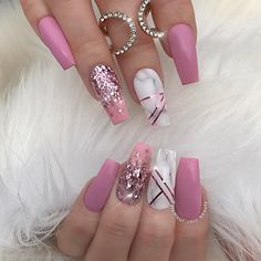 "1,249 Likes, 22 Comments - ✨LUXURY NAIL LOUNGE✨ (@glamour_chic_beauty) on Instagram: ""✨ Le Grandè ✨  #glamourchicbeauty #glamourchic #gcnails #goldcoastnails #pinknails #marblenails…"""
