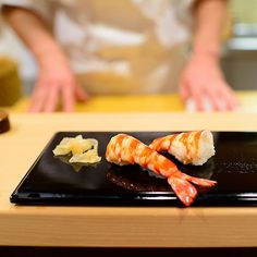 """Sukiyabashi Jiro in Tokyo, Japan. Considered the most perfect sushi in the world by many although its modest subway  basement location may suggest otherwise. Subject of the 2011 documentary """"Jiro Dreams of Sushi""""."""