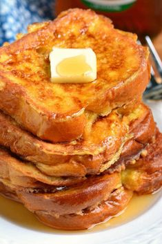 The BEST French Toast. This is the best French Toast recipe that features soft, buttery Brioche bread soaked in sweetened egg mixture. Perfect combination of plush and soft inside and crispy outside texture. recipes breakfast The Best French Toast Awesome French Toast Recipe, Best French Toast, Cinnamon French Toast, French Toast Recipes, Homemade French Toast, Challah French Toast, French Toast Bake, Healthy French Toast, Bread For French Toast