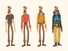 The Mountaineer by The Fox And King Mountain Illustration, People Illustration, Character Illustration, Best Icons, Mountain Climbing, Guy Drawing, Art Pieces, Mountains, Animation