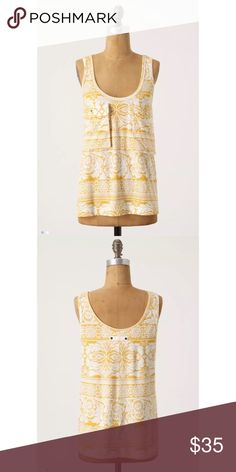 ❤️Anthropologie C. Keer Safari Tank❤️ Excellent condition. Size xsmall. Two front pockets. Anthropologie Tops Tank Tops