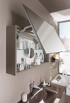 Armoire de Toilette Salle de Bain | Delpha Modern Bathroom, Small Bathroom, Armoire Design, Bathroom Mirror With Shelf, Flat Interior, Luxury Decor, Bathroom Interior Design, Room Decor, Modern Bathrooms