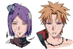 Konan and Pain Anime Naruto, Naruto Fan Art, Naruto Sasuke Sakura, Me Anime, Naruto Shippuden Sasuke, Boruto, Nagato Uzumaki, Konan, Akatsuki