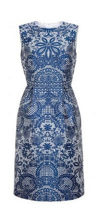Hobbs Rosetta dress, Bright Blue