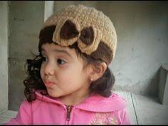 Tejer un gorro para chicas - Gorro en crochet de BerlinCrochet - YouTube