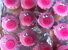 Pig Cupcakes (for a pig roast)
