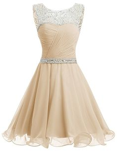 Dresstells® Short Chiffon Open Back Prom Dress With Beading Evening Party Dress Green Size 18