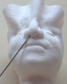 Sculpting a cloth doll face