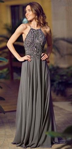 Bg756 Charming Prom Dress,Grey Prom Dress,Long Prom Dress,Backless