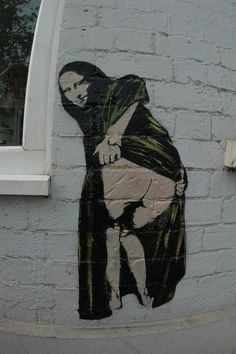 Banksy Mona Lisa Mooning