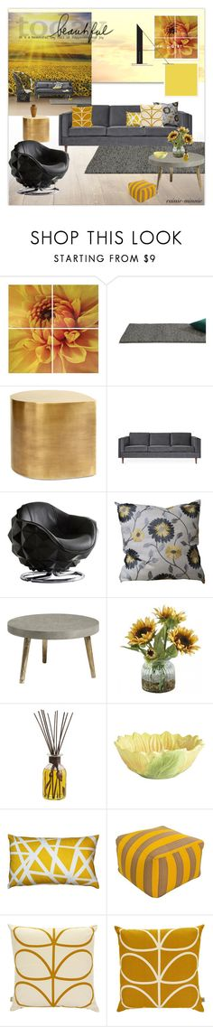 """""""Sunflowers"""" by rainie-minnie ❤ liked on Polyvore featuring interior, interiors, interior design, home, home decor, interior decorating, Matta, Jonathan Adler, Gus* Modern and Andrew Martin"""