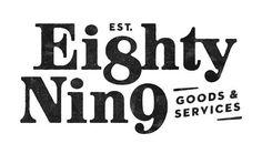 Eight Nine goods & services typography & identity design