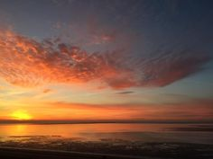 Nordsee - Sonnenaufgang in Wilhelmshaven über dem Jadebusen. Einblick und Rückblick ins Tourismuscamp 2017.