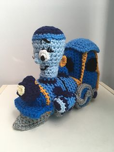 """PDF Pattern for Crochet Amigurumi """"Little Engine That Could"""" Inspired Tillie Plush by Shimmeree Creations on Ravelry Crochet Hook Sizes, Crochet Hooks, Magic Ring Crochet, Little Engine That Could, Blue Train, Magic Circle, Yarn Needle, Yarn Colors, Stitch Markers"""