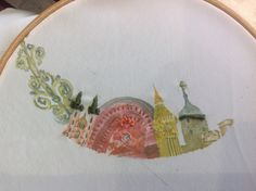 Christie's disperse dye illustration with hand embroidered detail