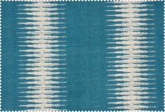 Peter Dunham Ikat KT01 Peacock/ linen