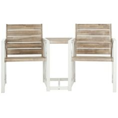 Safavieh Outdoor Jovanna White and Oak Bench | Overstock.com Shopping - Great Deals on Safavieh Outdoor Benches
