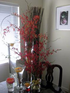 Tall Flower Arrangements for Weddings   flowers from Ronald + Beverley's wedding