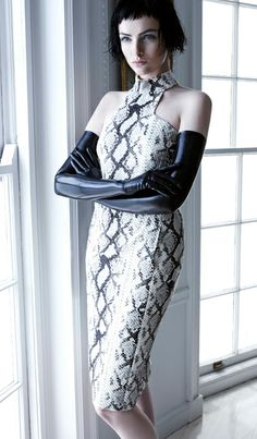 Parisan Mademoiselle by Carla Zampatti. Animal Prints In Fashion, Carla Zampatti, Edgy Style, Casual Wedding, Put On, Feathers, Beautiful Dresses, Mcqueen, Snake