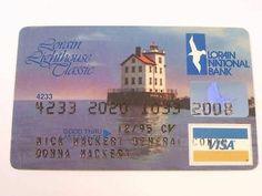 VINTAGE LORAIN NATIONAL BANK LIGHTHOUSE CLASSIC VISA CREDIT CARD EXP ...