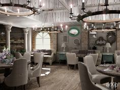 Прованс: интерьер, зd визуализация, open space, ресторан, кафе, бар, французский, прованс, 200 - 500 м2, интерьер #interiordesign #3dvisualization #openspace #restaurant #cafeandbar #french #provence #200_500m2 #interior