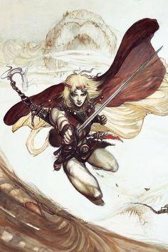 Amano Yoshitaka, Amon Saga-Army Panel. 天野喜孝~アモン・サーガアルミパネル(ブラック)セットの画像