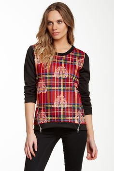 Woven Panel Pullover Tee by Romeo & Juliet Couture on @HauteLook