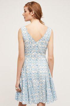 South Island Printed Dress, Blue - anthropologie.com
