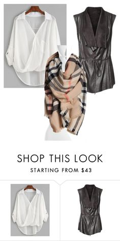 """""""flowing blouse, vest and blanket scarf for savanah"""" by emerickjamielynn on Polyvore featuring Fraas"""