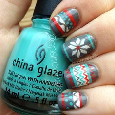 Christmas sweater nails, cute!
