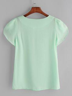 Petal Sleeve, Manga, Chiffon, Tunic Tops, Couture, Blouse, Sleeves, Mens Tops, T Shirt
