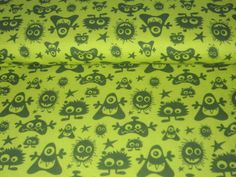 Organic Jersey Monster  lime    Design Janeas World, all rights reserved      Very soft and good quality.