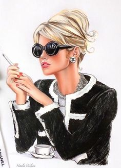 Fashion Design Drawing I have this jacket; that's a start! Fashion Artwork, Fashion Wall Art, Fashion Sketches, Fashion Illustrations, Drawing Fashion, Art Sketches, Boss Lady, Girl Boss, Girly Drawings