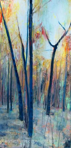 Beyond the Summer. Trees in Fall by annie flynn