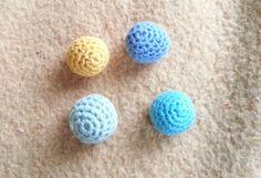 palline uncinetto Crochet Ball, Knit Crochet, Amigurumi Tutorial, Tatting, Free Pattern, Handmade Jewelry, Stud Earrings, Stitch, Blog